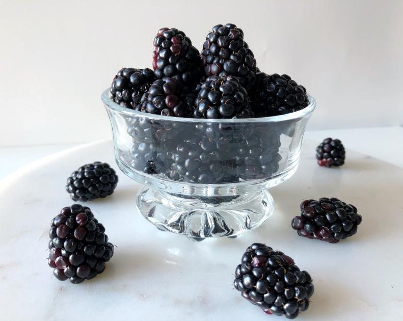 Blackberry food styling